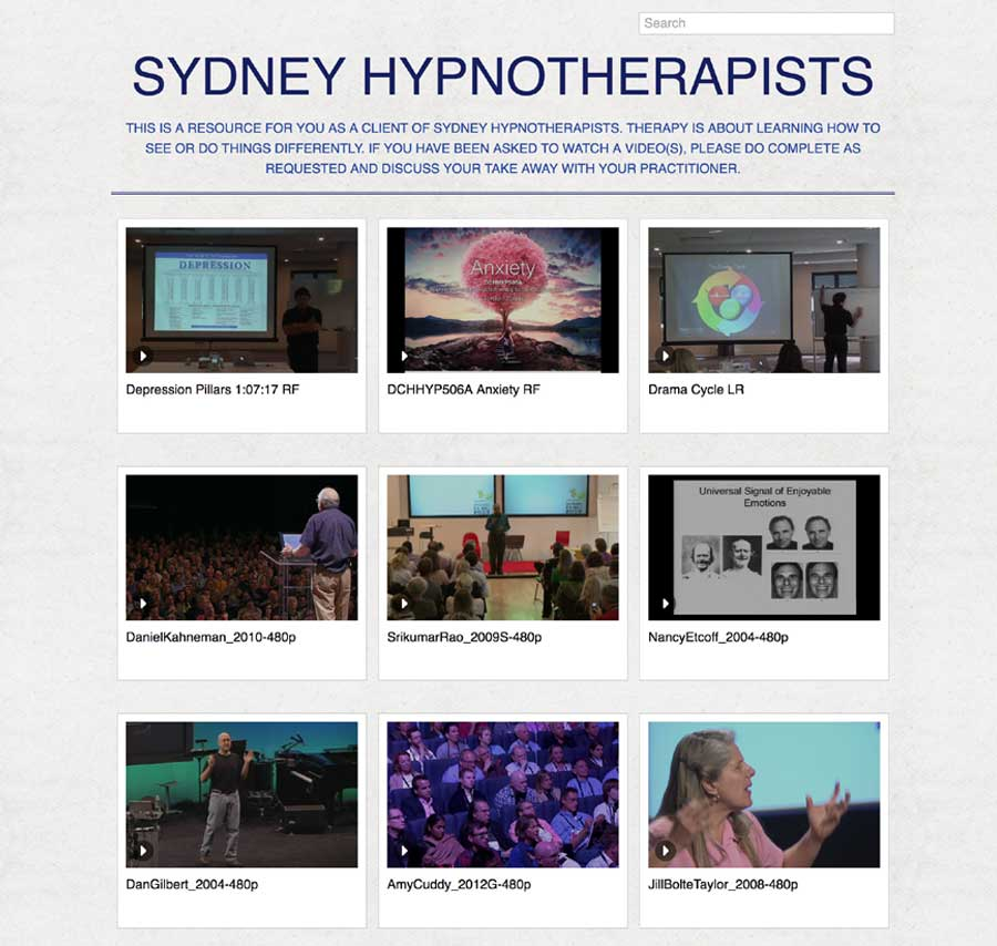 resources, sydney hypnotherapists